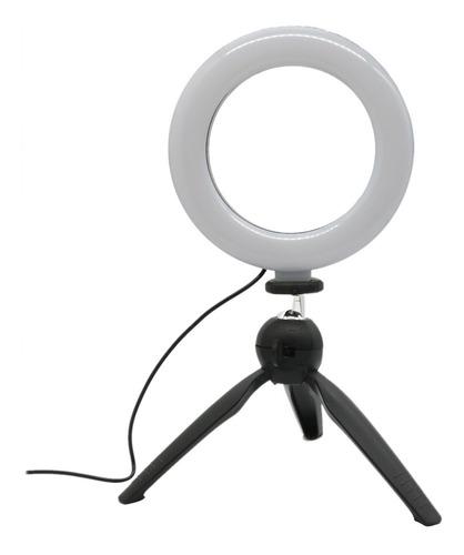 Iluminador Ring Light 6 Polegadas 16cm Usb Led Apoio Mesa Original