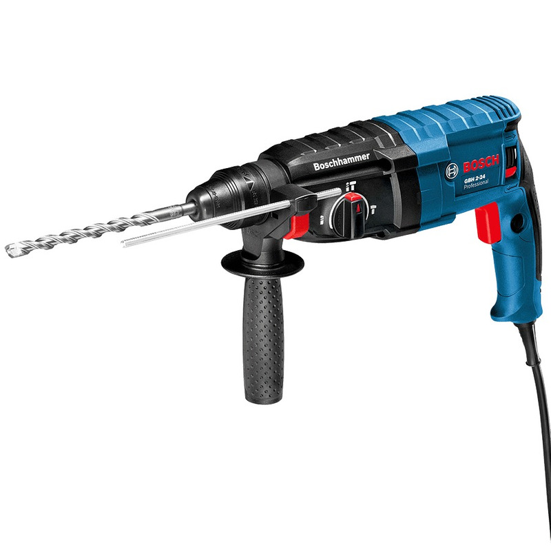 Martelete Rotativo e Perfuração 820W + Maleta - GBH 2-24 D - Bosch