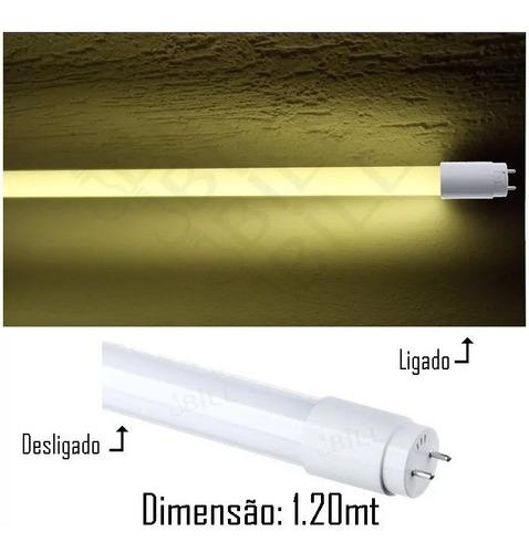 Lâmpada Tubo Led T8 18w Leitosa 3000k Branco Quente 8 Peças Original