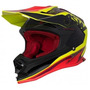 Capacete Asw Fusion Blast Pret/ama/vermelho Trilha Motocross