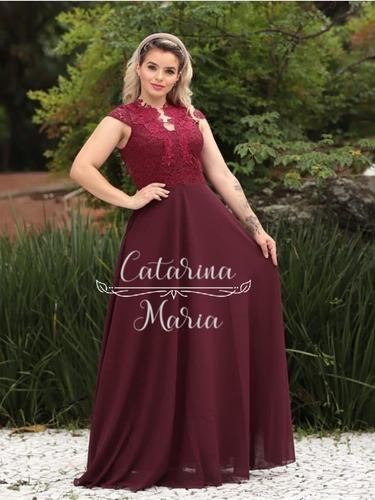 Vestido Longo Formatura Casamento Madrinha Com Manguinha #5 Original