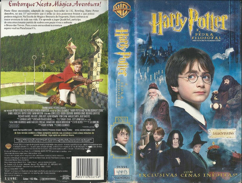Filme Harry Potter E A Pedra Filosofal Legendado Vhs