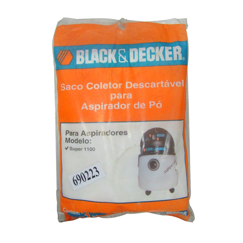 Kit Filtro Black&Decker com 3 Unidades para Super 1100