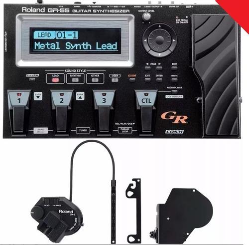 Pedaleira Sintetizador Midi Roland Gr-55gk Gr55 Completa Nf Original