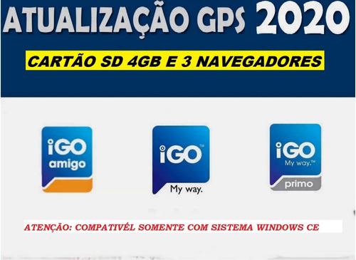 Atualização Gps 2019 Cartão Sd 4gb E 3 Navegadores Igos. Original