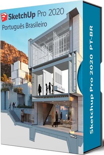 Sketchup Pro 2020 + Biblioteca 900gb Blocos E Texturas Original