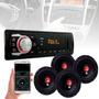 Kit Auto Falante 6 6 Pol Toca Radio Carro Mp3 Player Usb