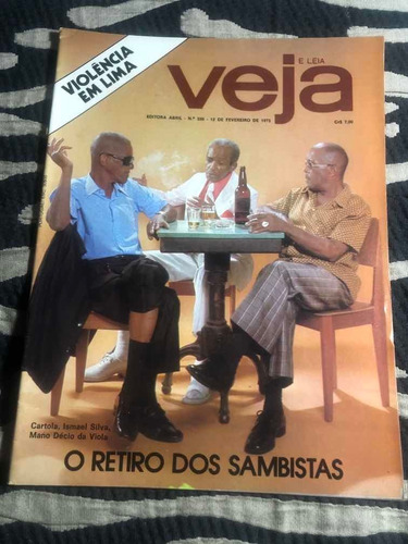 Veja 75 Retiro D Sambistas Cartola Ismael Silva Mano Décio Original