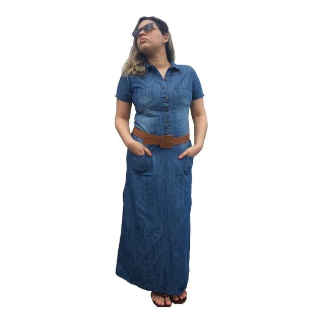 35ed21a5c Roupas Femininas Vestido Longo Moda Evangélica Ref.0030 em Vitória ...
