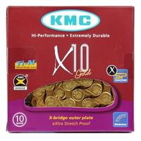 CORRENTE KMC X10 TI-N GOLD / DOURADO 116 ELOS - 10V
