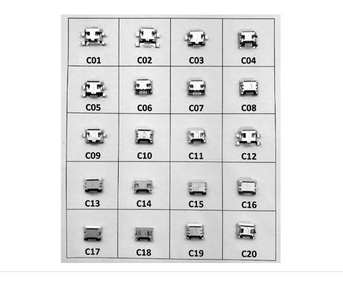 Conector Carga - Cel. Tablet  Micro Usb 20 Modelos - 5 Kits Original