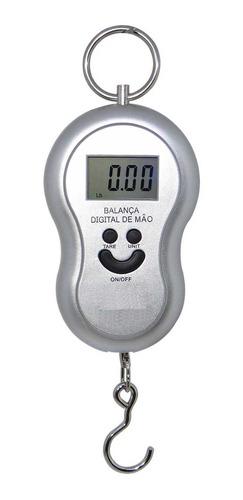 Balanca Digital De Mão Até 50kg C/ Gancho - Preta Original