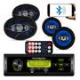 Kit Som Carro Radio Mp3 Bluetooth Falante 6 Pol 6x9 310w
