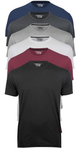 Camiseta Masculina Slim Fit Várias Cores Algodão Promoção! Original