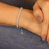 Pulseira prata 925 pontos de luz - PL040040