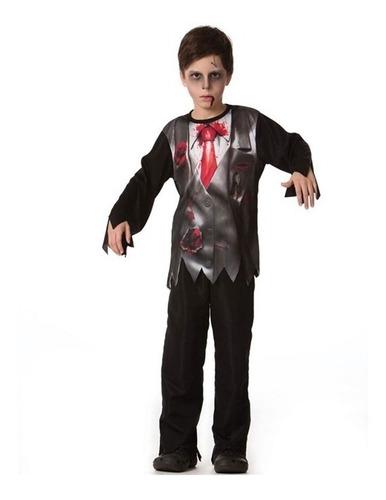Fantasia Noivo Cadáver Masculino Infantil Halloween P Ao Gg Original