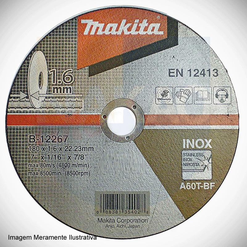 "Disco Abrasivo de Corde Inox 180 x 1.6 x 22.23 mm (7"")  - B-12267 - Makita"
