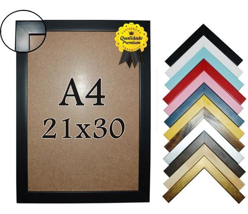 Moldura A4 Diploma (21x30) Em Madeira Com Vidro Original