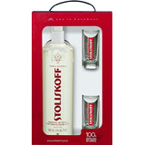 Kit Vodka Chocolate Branco + 2 copos - Stoliskoff