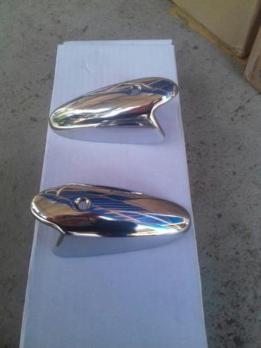 Capa Pisca Fino Fusca 1961 A 1964 Metal Cromado 1° Linha Original
