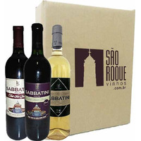 Kit Vinho Bordô Suave + Seco + Branco Niagara - Sabbatini