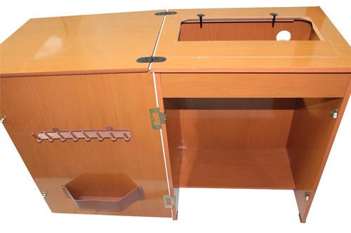 Gabinete Para Máquina De Costura Tipo Singer Cedro