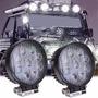 Kit 2 X Farol De Milha Led Redondo 27w 12v 24v Jeep Caminhao