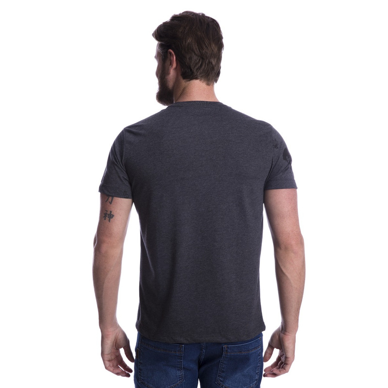 Camiseta Long Island Plus Size Grafite