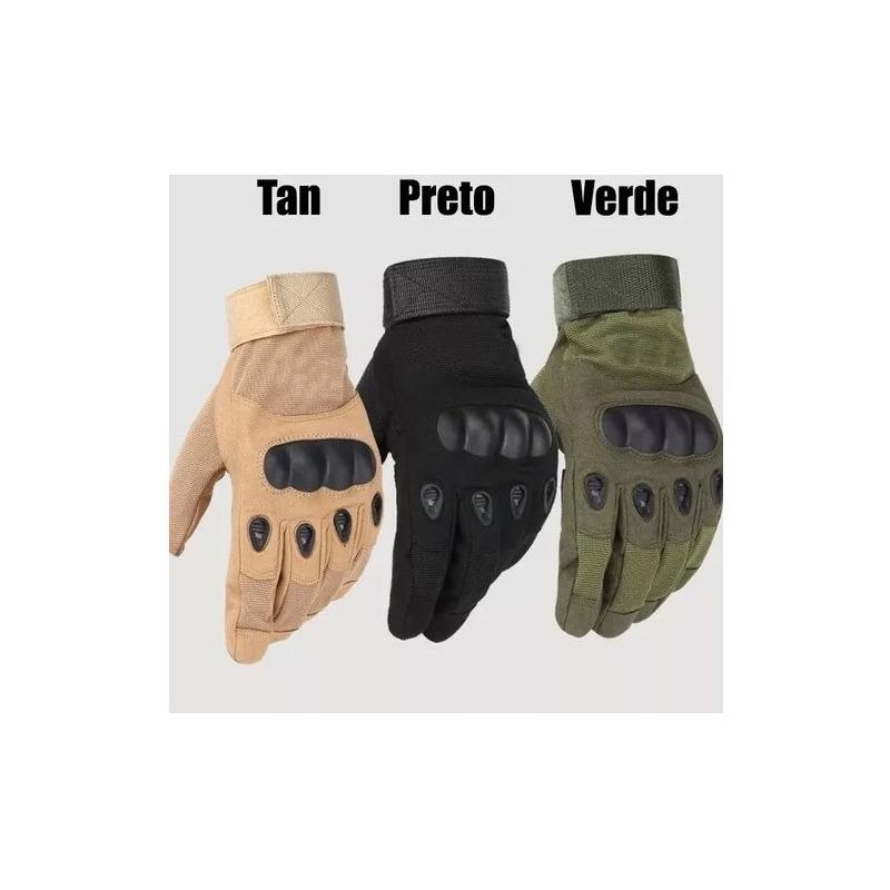 Luva Oakley Airsoft Tática Proteção Esportes Dedo Inteiro - SÓ PRETA