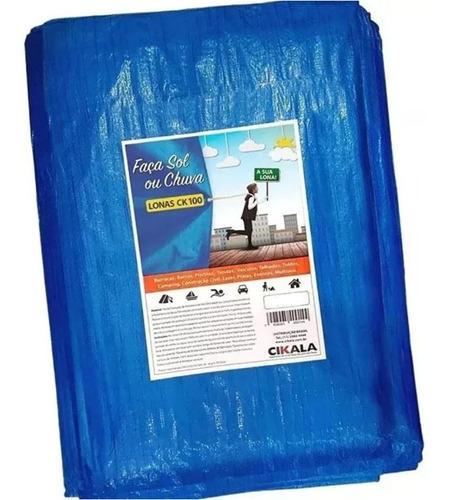 Lona 12x8 M Plastica Azul Forro Piscina Impermeavel Telhado Original