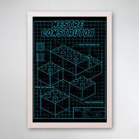PÔSTER COM MOLDURA - MESTRE CONSTRUTOR