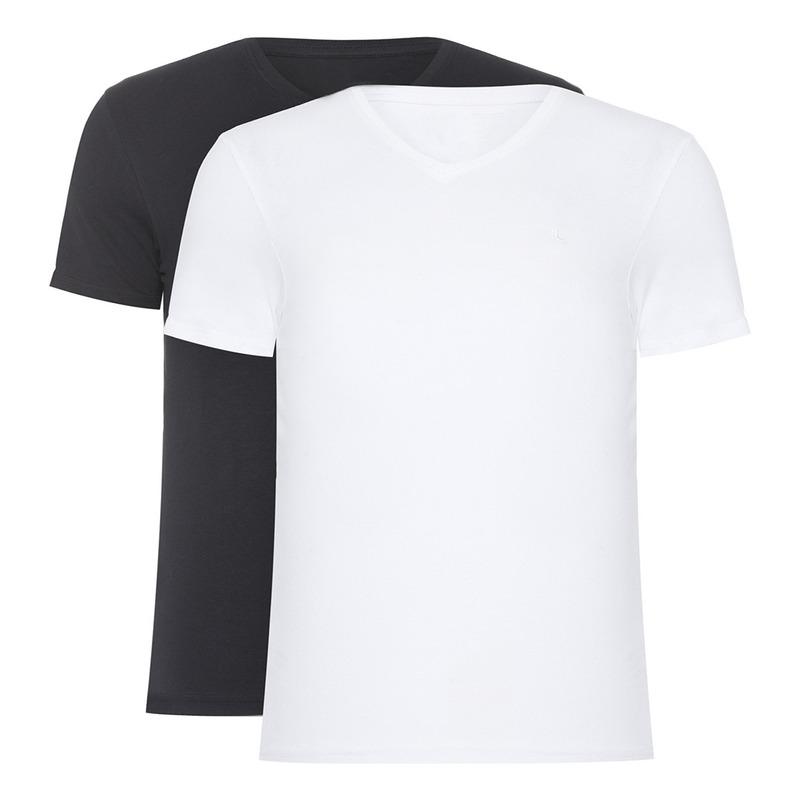 Kit Camisetas Branco e Preto