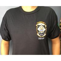 Camisa  Agente - Bordada Preta