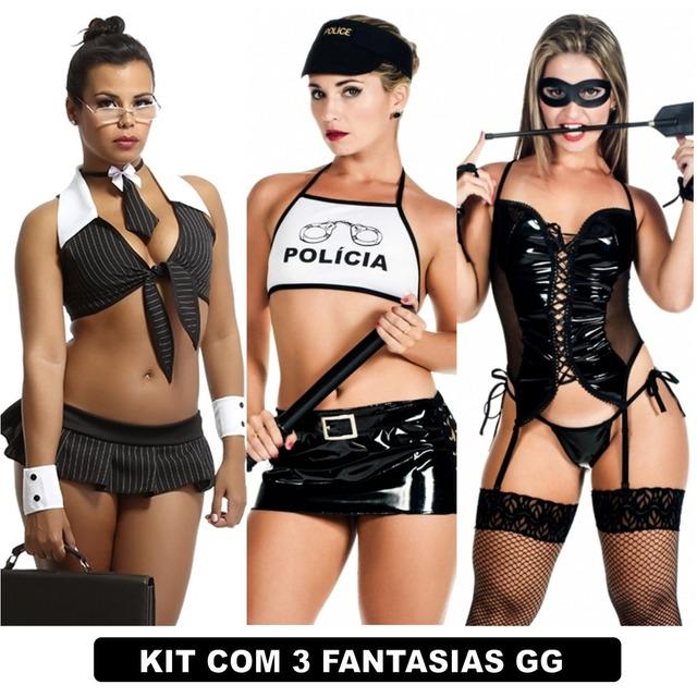 2285f9d6e Plus Size Peças Intimas Espartilho Sexy Kit Com 3 Uni Gg em Monnerat ...