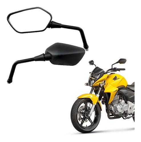 Retrovisor Para Moto  Cb300 Preto Rosca  Yamaha Original