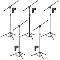 Kit Com 05 Pedestais P/ Microfone Acompanhado De Cachimbo