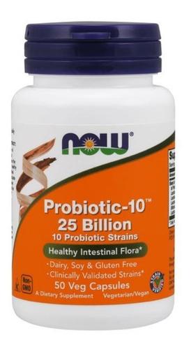 Now Foods Probiotic-10 25 Bilhões (50 Vaps) / Importado Original