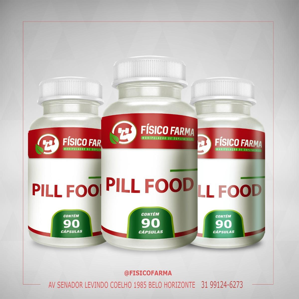 Pill Food - Kit 3  90 Cápsulas