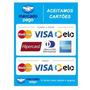 4 Adesivo Mercado Pago Aceita Cartão