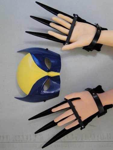 New Volverine Infantil Mascara E Garras 25cm X-men Mutante