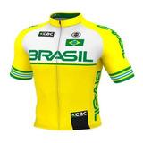 Camisa Ciclismo Mtb Ert Elite Brasil Slim Fit