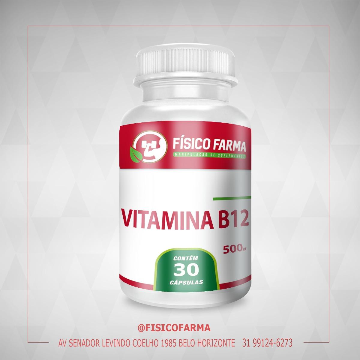Vitamina B12 -  500mcg - 30 Cáps