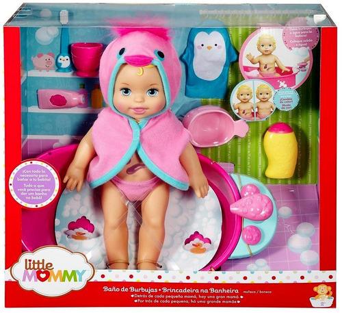 Boneca Little Mommy Banho Brincadeira Na Banheira Original