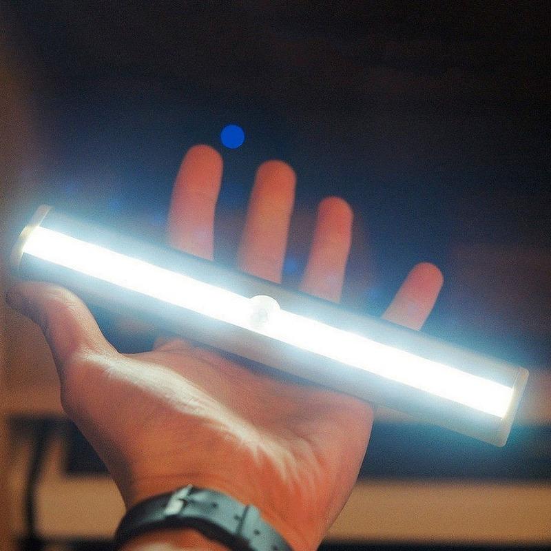 Kit 4 Luminárias Led Fixação 3m 190mm Bateria Rena