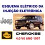 Esquema Elétrico Injeção Jeep Cherokee 4.0 V6 1997 Tabela