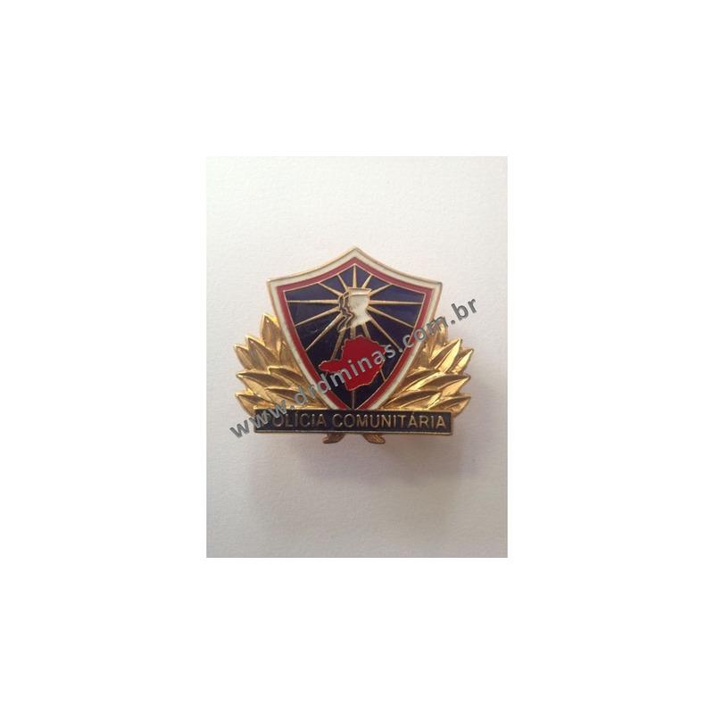 Distintivo de Metal Policia Comunitaria II  - PMMG