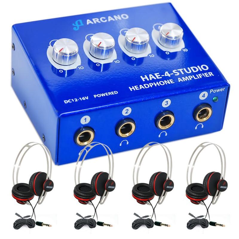 Amp De Fones Arcano Hae4studio + 04 Live-10 + 04 Extensores