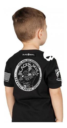 Camiseta Infantil Oficial - Black Skull - Tam. 04  16 Anos Original