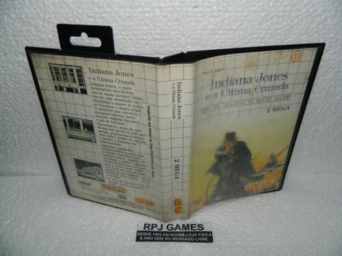 Indiana Jones C/ Caixa E Manual P/ Master System - Loja Rj Original