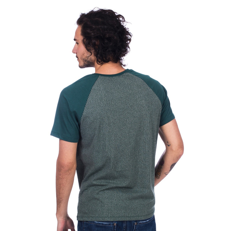 Camiseta Long Island Raglan Verde Oliva